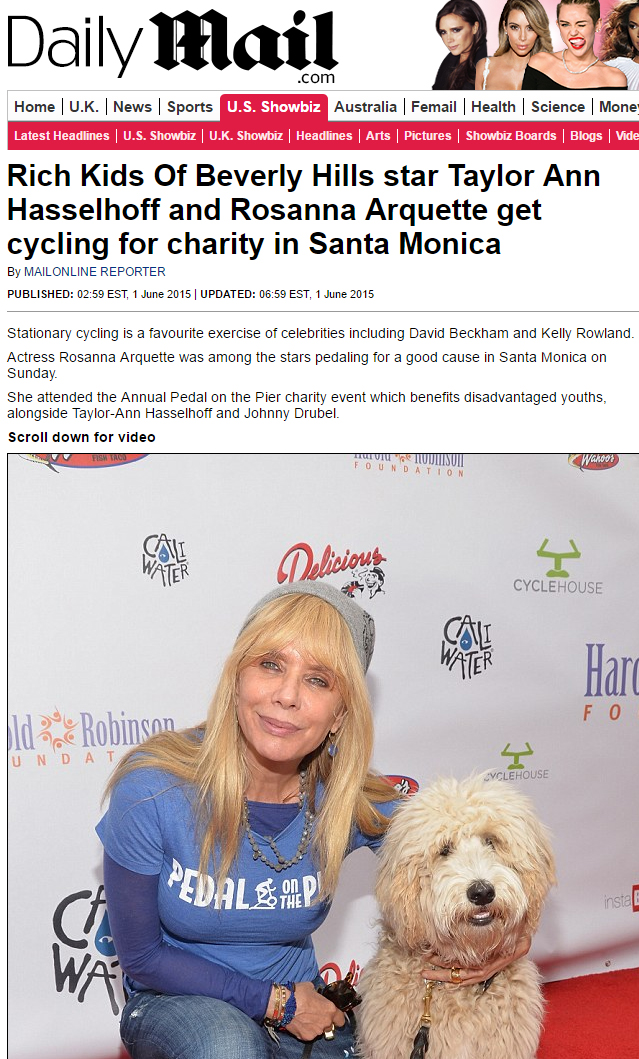 Taylor Ann Hasselhoff and Rosanna Arquette cycle for